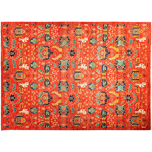 """9'2""""x12'4"""" Celine Eclectic Rug, Red"""