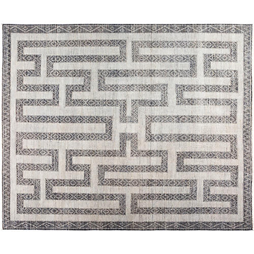 """8'3""""x9'10"""" Bria African Rug, Gray"""