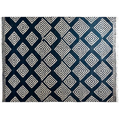 """9'2""""x12'3"""" Gabriella Moroccan Rug, Blue"""