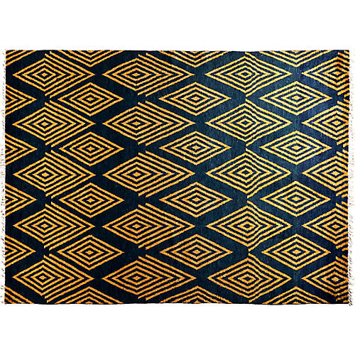 "9'1""x12'4"" Piper Moroccan Rug, Yellow"
