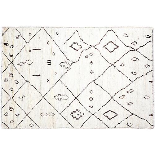 "3'3""x5' Reid Moroccan Rug, Ivory"
