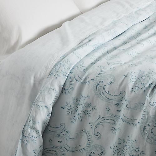 Dusty Duvet Cover, Blue/White