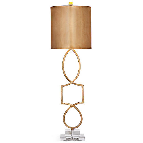 Balancing Table Lamp, Gold Leaf