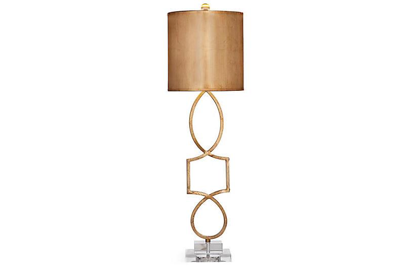 Balancing Table Lamp, Gold Leaf