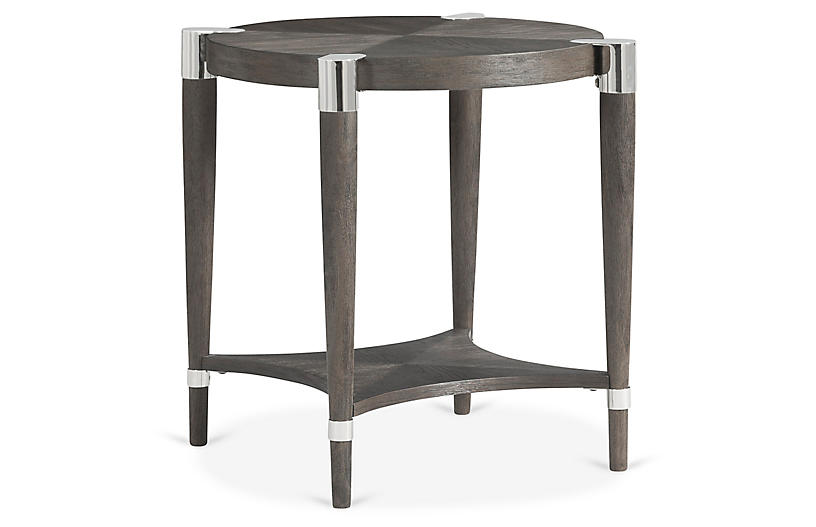 Duvall Round Side Table, Coffee