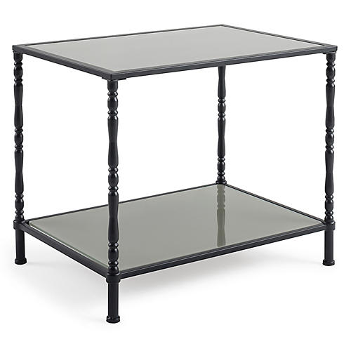 Yates Spindle Side Table, Black