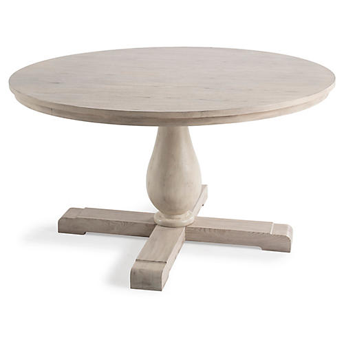 Milbrook Pedestal Dining Table, Natural