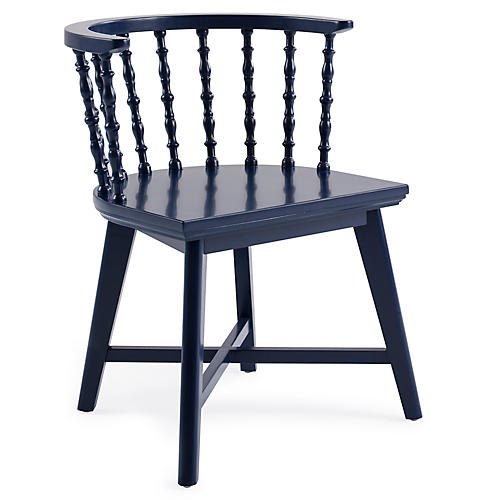 Wythe Windsor Chair, Navy