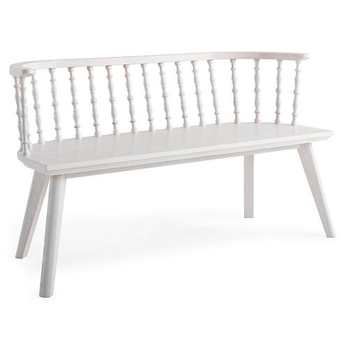 Wythe Windsor Bench, Whitewash