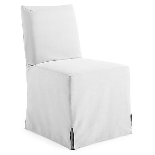 Lovell Slipcover Side Chair, White