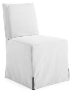 Lovell Slipcover Side Chair, White