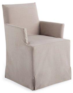 Lovell Slipcover Armchair, Mushroom