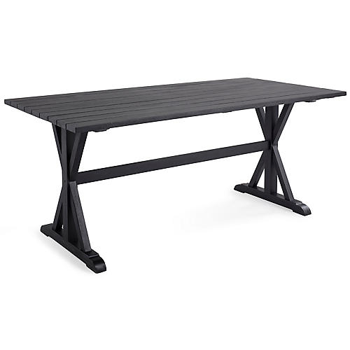 Cotwold Indoor/Outdoor Dining Table, Black