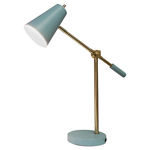 Balance Arm LED Desk Lamp, Sky Blue