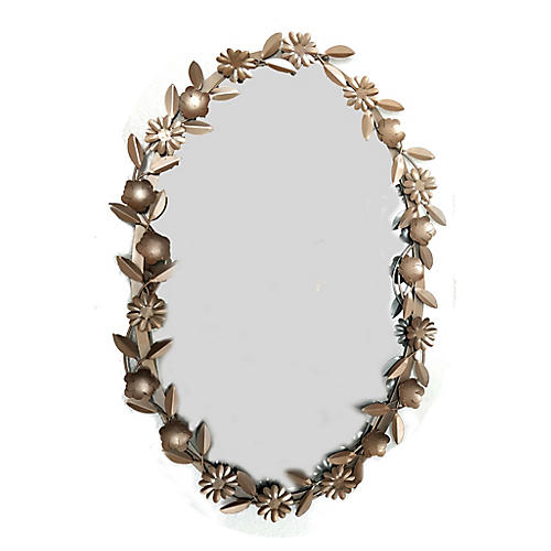 Oval Wall Mirror, Rose Gold