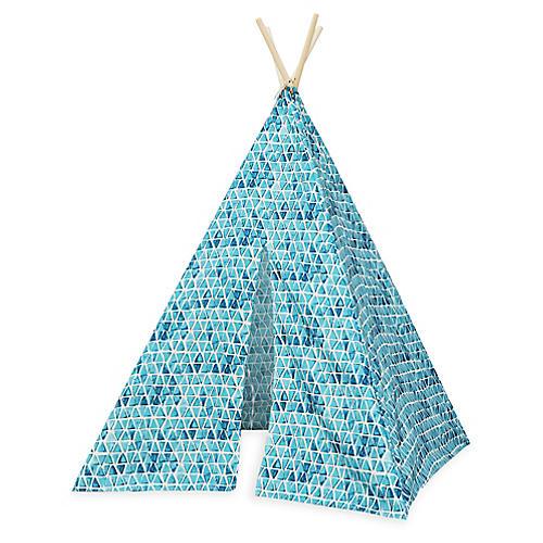 Triangles Teepee, Blue