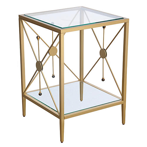 Beatrix Side Table, Brass