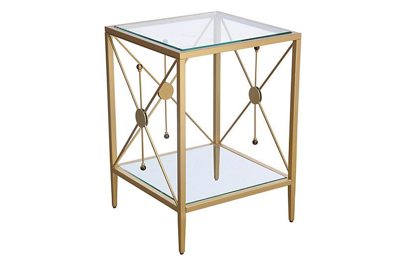 Beatrix Side Table, Brass