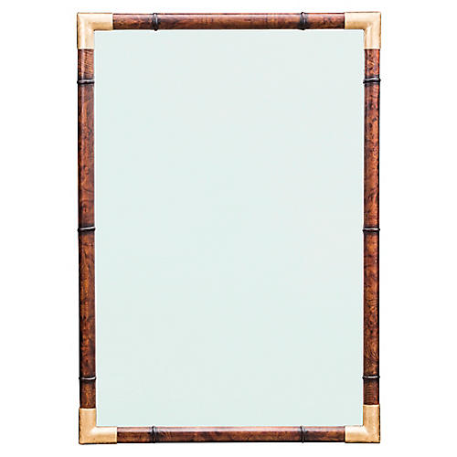 Huntley Wall Mirror, Tortoiseshell/Aged Gold