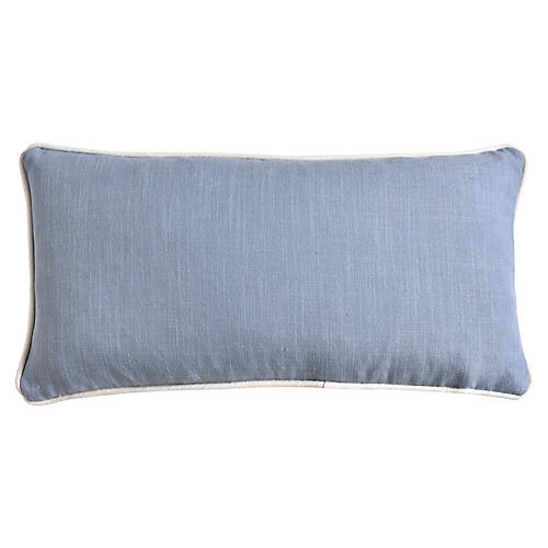 Jocelyn 12x23 Lumbar Pillow, Soft Blue
