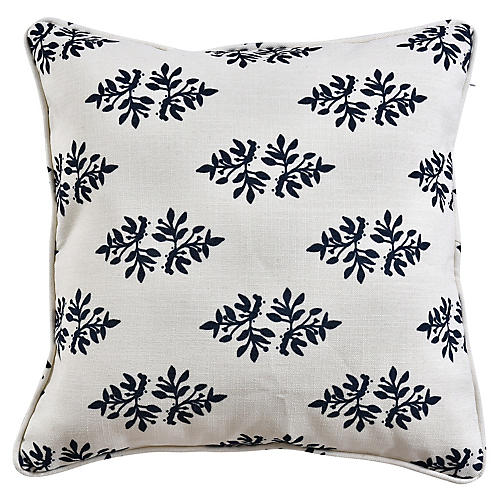 Yara 19x19 Pillow, Blue