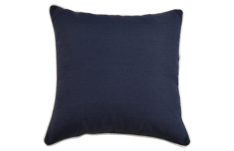 Jocelyn 22x22 Pillow, Navy