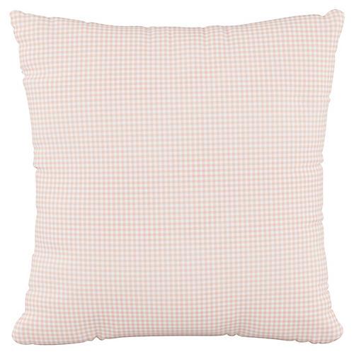 Addison 18x18 Pillow, Gingham Pink