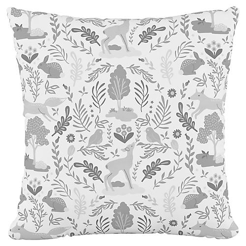 Addison 18x18 Pillow, Woodland Gray