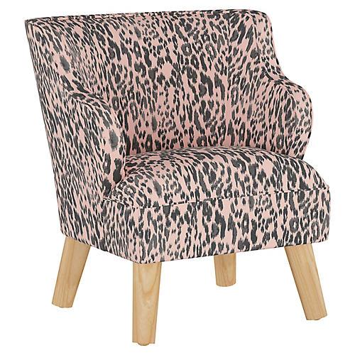 Stella Chair, Glam Cheetah Pink