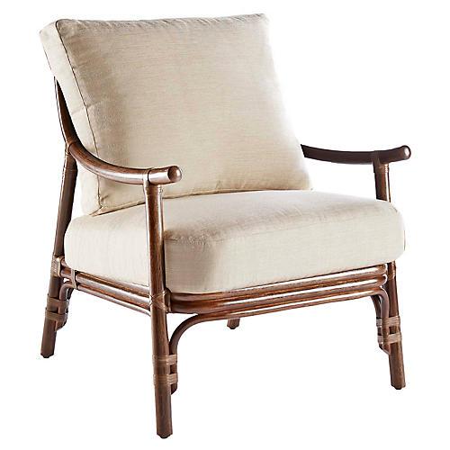 Cecilia Rattan Accent Chair, Beige