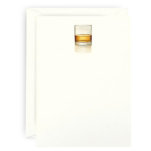 S/6 Whiskey Neat Note Cards