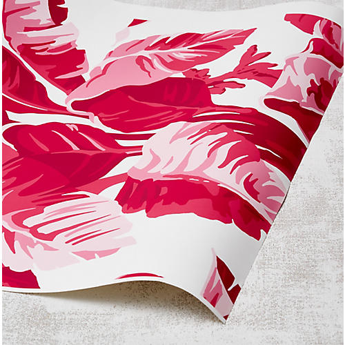 Nathan Turner Electric Palm Wallpaper, White