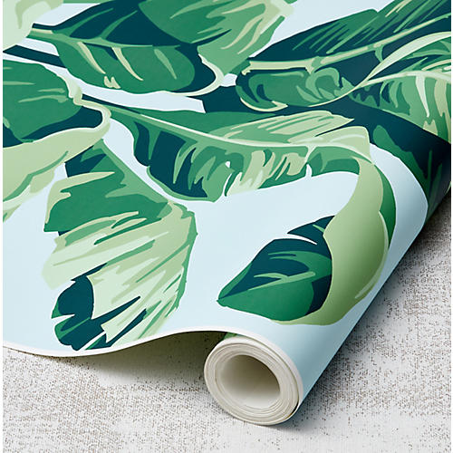 Nathan Turner Pacifico Palm Wallpaper, Sky/Green