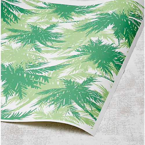 Palm Shuffle Wallpaper, Grass/Kelp