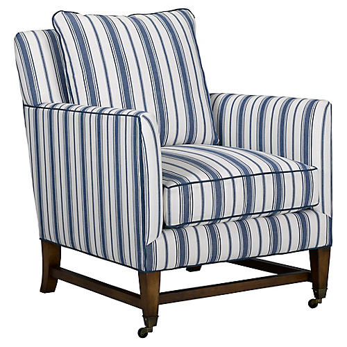 Brentwood Chair, Blue Stripe
