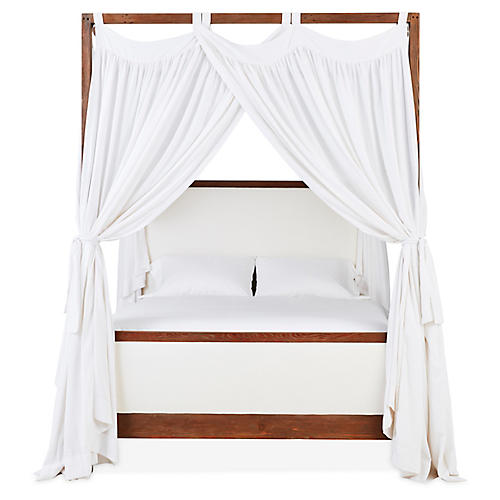 S/6 Evelyn Canopy Bed Panels, Ivory