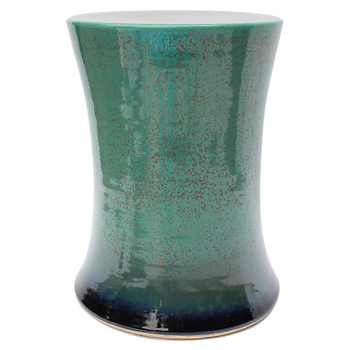 Goldin Garden Stool, Green