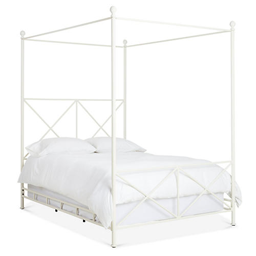 Hudson Canopy Bed, Matte White