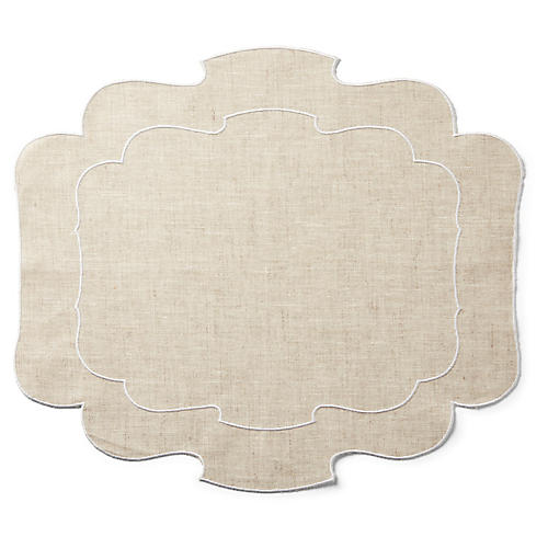 Utti Place Mat, Natural/White