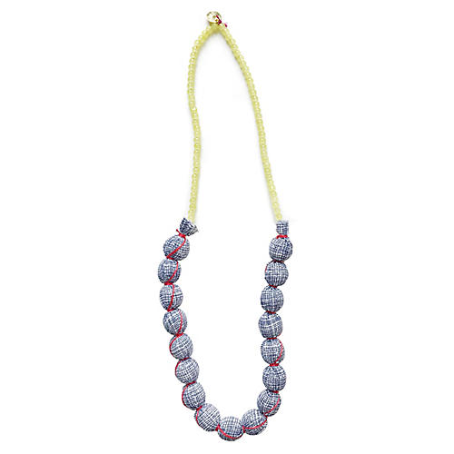 Beaded Colette Necklace, Blue/Multi