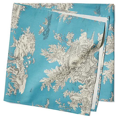 Indiennes Table Runner, French Blue
