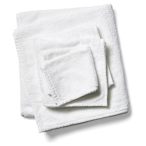 3-Pc Bliss Towels, White