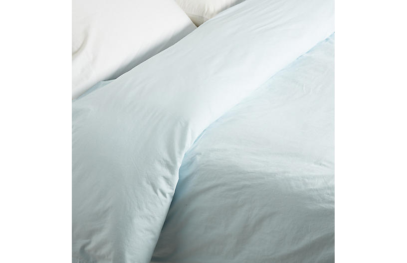 Nap Duvet Cover, Misty Blue