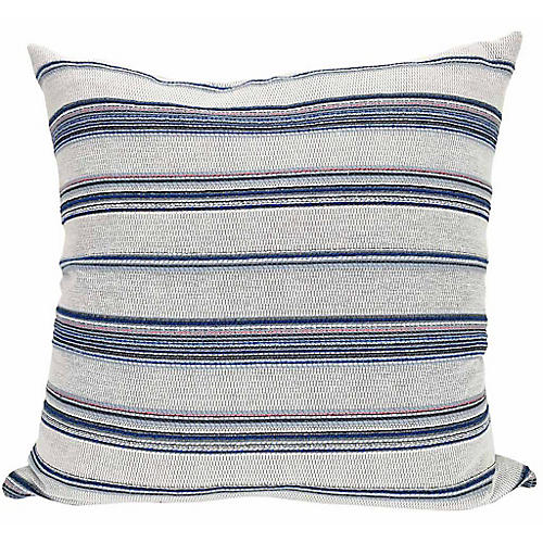 Serena 21x21 Pillow, Blue/Multi
