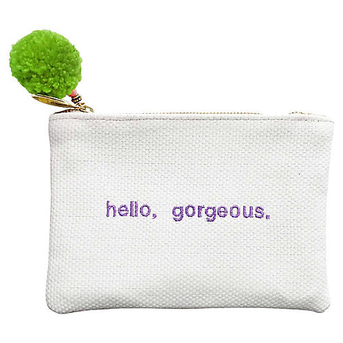 Hello, Gorgeous Reversible Leather Pouch, Multi