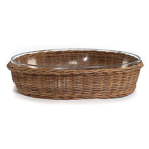 Nimble Oval Serving Dish, Natural