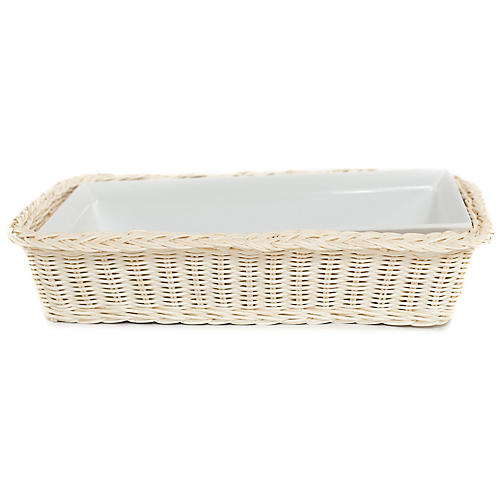 Cold Buffet Rectangular Serving Dish, Blonde
