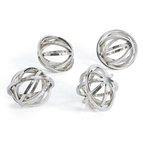 S/4 Hale Decorative Spheres, Silver