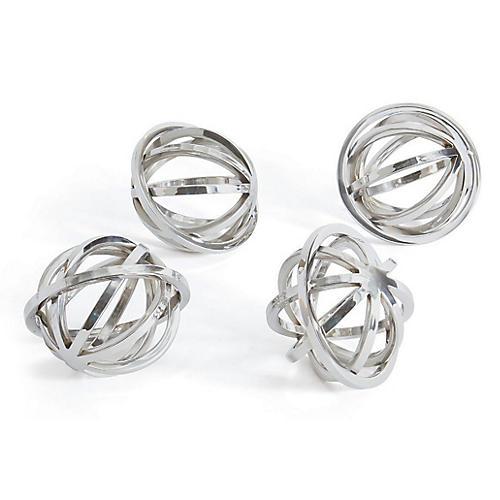 S/4 Hale Decorative Spheres, Silver