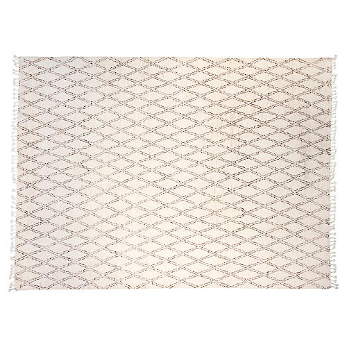 9'x12' Moroccan Hand-Knotted Rug, Ivory